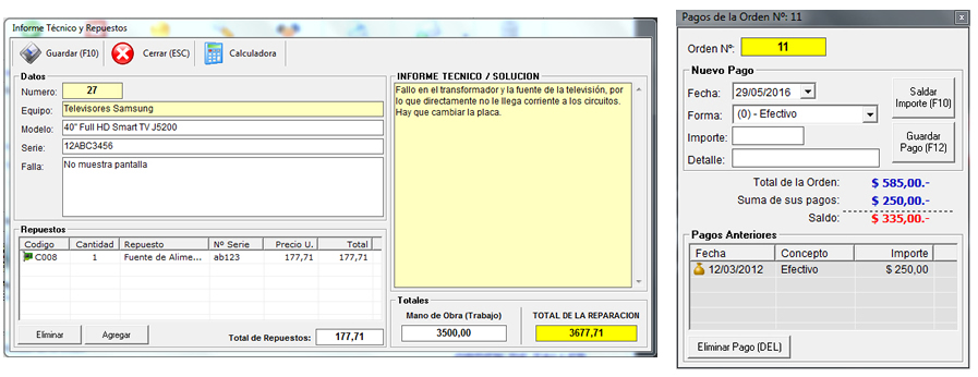 Sistema Servicio Técnico 2.5 | Funcionalidad y Características